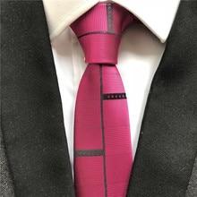 Уникальные Молодежные мужские узкие галстук дизайнерские вечерние Свадебный галстук розовый красный с индивидуальностью черные полосы