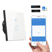 Sonoff Wifi Switch EU Smart Remote Control Wireless Light Switch Touch Glass Wall Timing Switches Smart