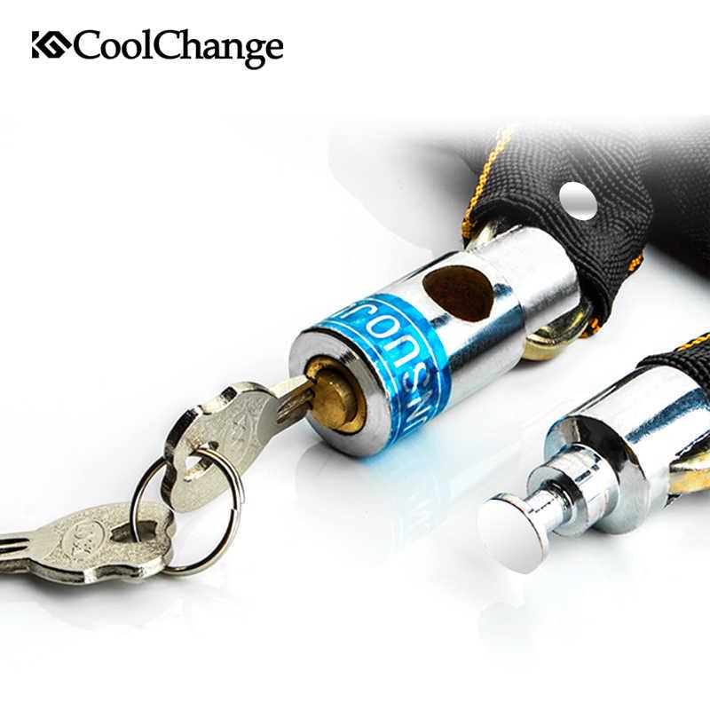 Coolchange Sepeda Lock Olahraga Luar Ruangan Anti-Theft Bersepeda Rantai Kunci Keamanan Aman MTB Sepeda Kunci Sepeda Pencurian Tahan Rantai kunci