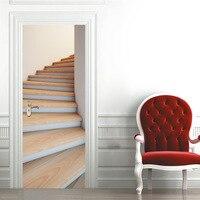 3D Staircase Door Stickers Self Adhesive Decoration Bedroom Door Renovation Art Wall Stickers Home Decor Mural Quotes