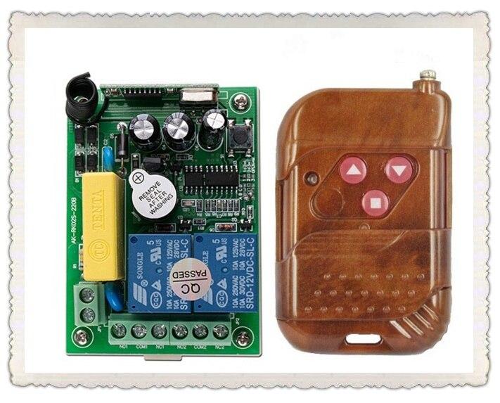 AC220V 2ch беспроводной пульт дистанционного управления Двигатель положительные и отрицательные системы коммутации 1x передатчик + 1x приемник р...