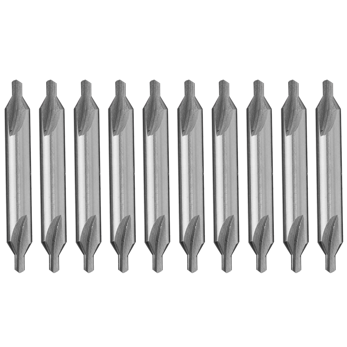 10Pcs/Set 60 Degree HSS Combined Center Drill Countersink Bit Lathe Tool Set 2.5mm Center Bit Hand Tools
