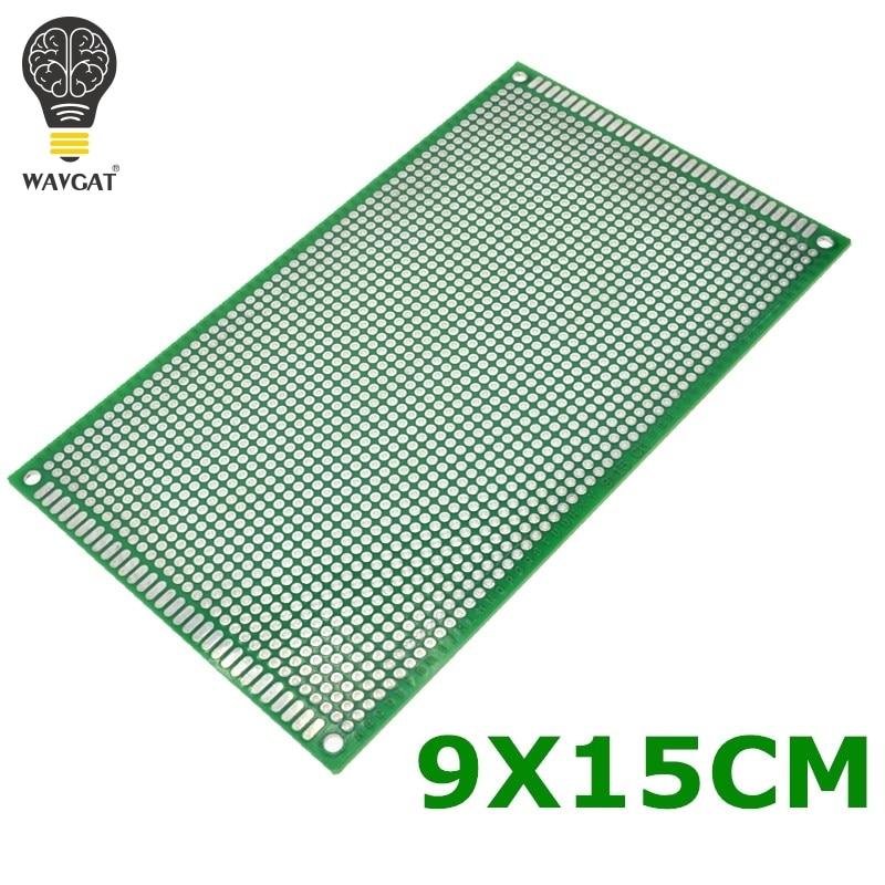 Wavgat 9x 15 см двухсторонний Медь Прототип PCB 9*15 см универсальный совет для Arduino