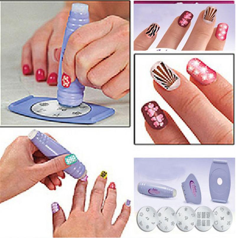 Professional Nail Art Stamp Stamping Polish Stencil DIY Nail ...