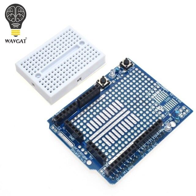 Free Shipping UNO Proto Shield prototype expansion board with SYB-170 mini bread board based For ARDUINO UNO ProtoShield