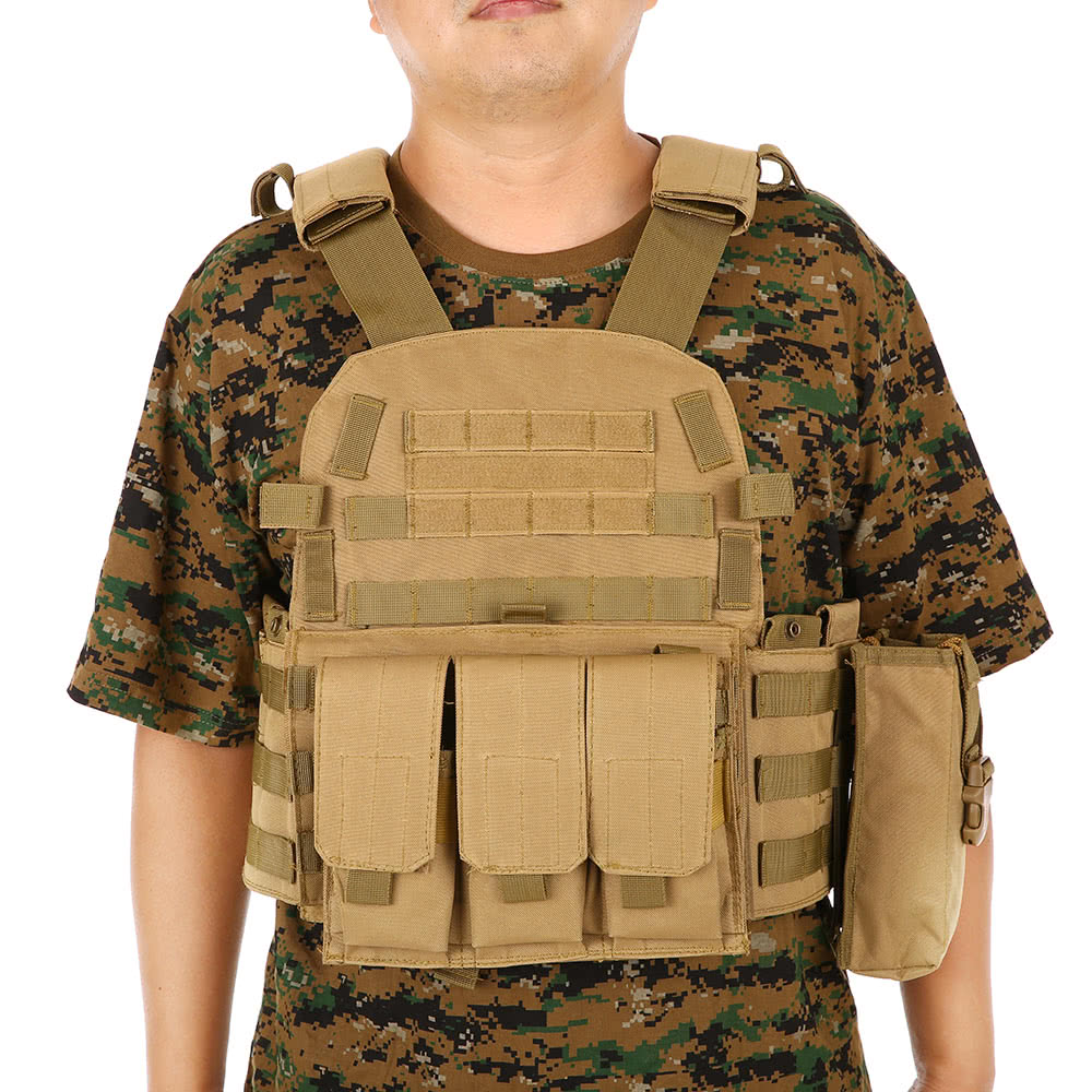 CQC 6094 Molle Airsoft Tactical Plate Carrier Vest Military Army Paintball Shooting Hunting Body Armor Combat