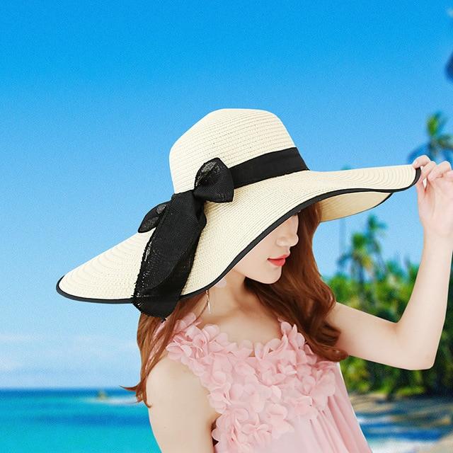 1a256924dce73 2018 Carta de Verão Das Senhoras Das Mulheres Chapéus de Sol Grande Aba do  chapéu de