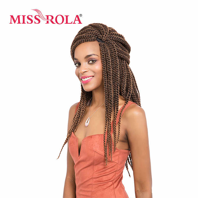 Miss Rola Kinky Braid Synthetic Hair Extensions 18inch Kanekalon Low Temperature Fiber Curly Crochet Braids Hair 5pcs a lot