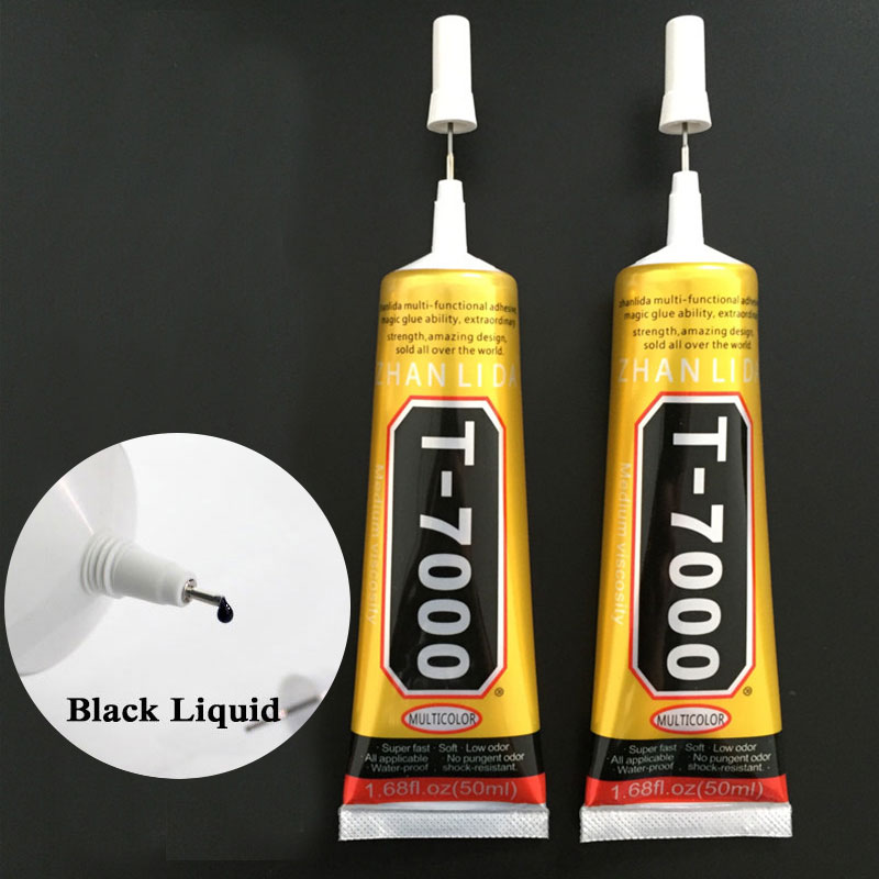 50ml T7000 Glue Multipurpose Adhesives Strong Super Glues T-7000 Black Liquid Glues For DIY Crafts Glass Phone Case Metal Fabric