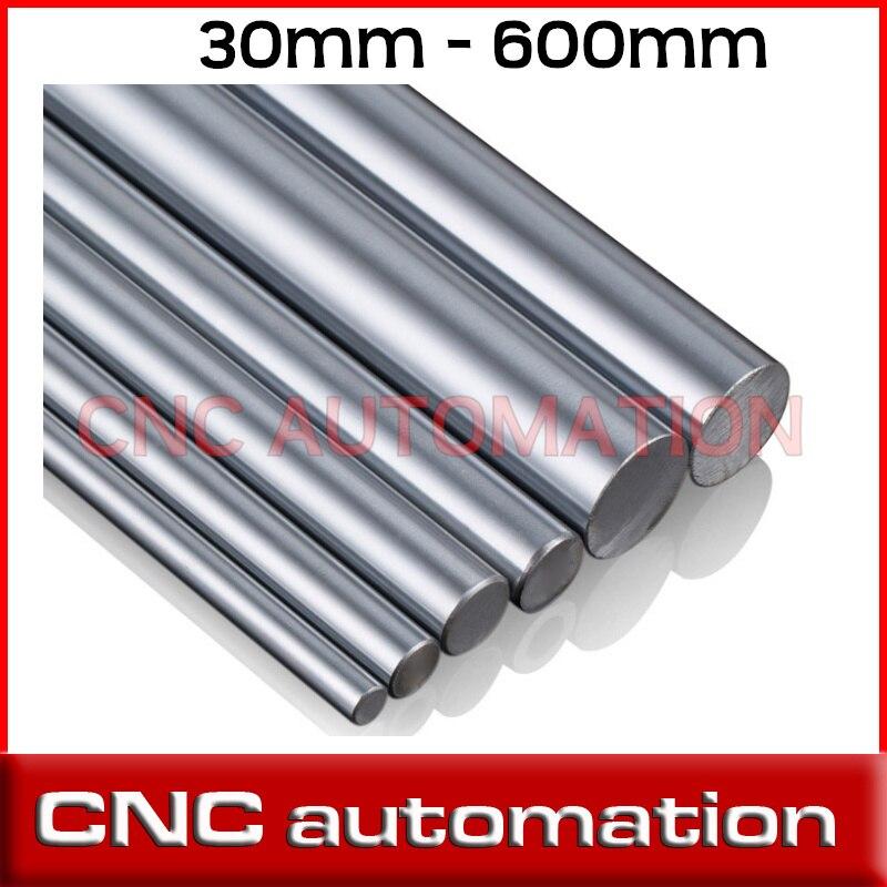 2pcs 30mm - L 600mm Chromed Hardened Rod Linear Motion Shaft cnc parts 3d printer parts linear shaft