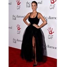 Top Sexy Black Straps Sleeveless Ballkleid Lang Abendkleid Abendkleid Formales Kleid