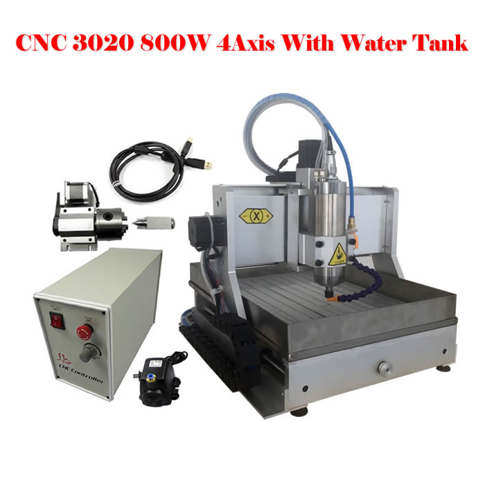 Free duty to EU,3020 cnc router 4axis engraving machine with water tank for wood metal stone jade working eur free tax cnc 6040z frame of engraving and milling machine for diy cnc router