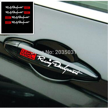 2018 New car handle protection stickers accessories for Mitsubishi ASX Lancer Outlander Pajero Hyundai Solaris ix35 i30 Renault/ image