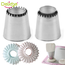 Delidge 1PC Russian Icing Piping Nozzles Ring Cream Cake Cookies Mold Pastry Tips Stainless Steel Fondant Decorating Tools
