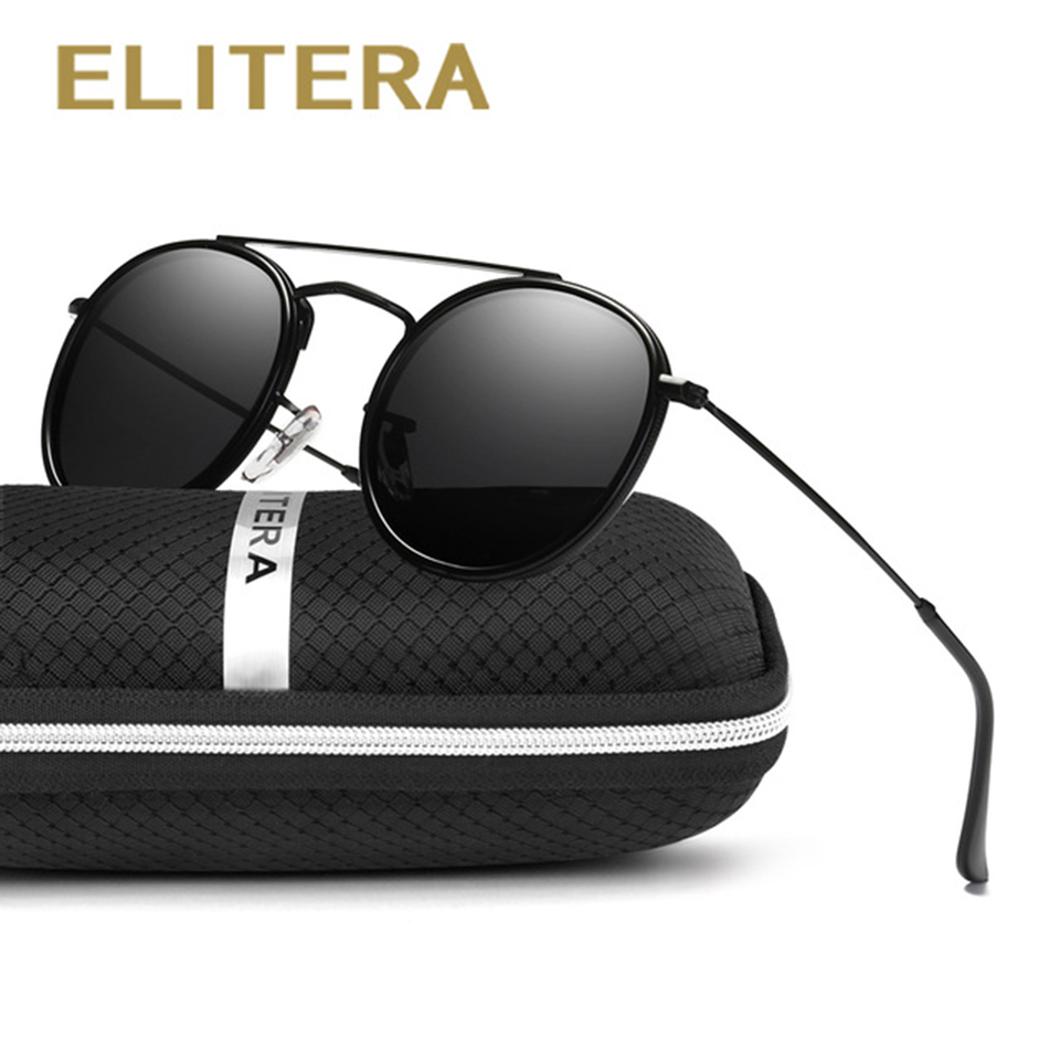 2e4ad5c5c8a2 ELITERA Luxury Round Sunglasses Women Brand Designer Retro Vintage Sun  Glasses For Women Men Lady Female Sunglass Mirror