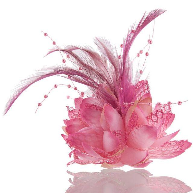 Шарм броши в виде лотоса ткань цветок шпильки милый цветок аксессуары для волос повязка для девочек фестиваль украшения булавки