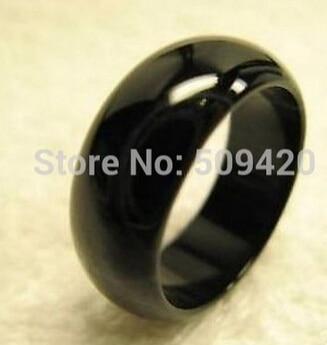 free shipping Cool Black natural   ONYX Band Ring