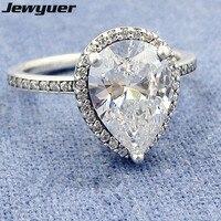 2017 Autumn Radiant Teardrop Ring 925 Sterling Silver Wedding Rings For Women Men Anillos Fine Jewelry
