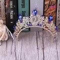 Korean bride jewelry alloy Blue Phoenix studio with female headdress crown crown princess crown