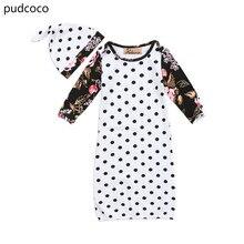 Cute Baby Sleeping Bags Swaddle Blanket Floral Sleeve Kids Girls Boys Polka Dots Cocoon