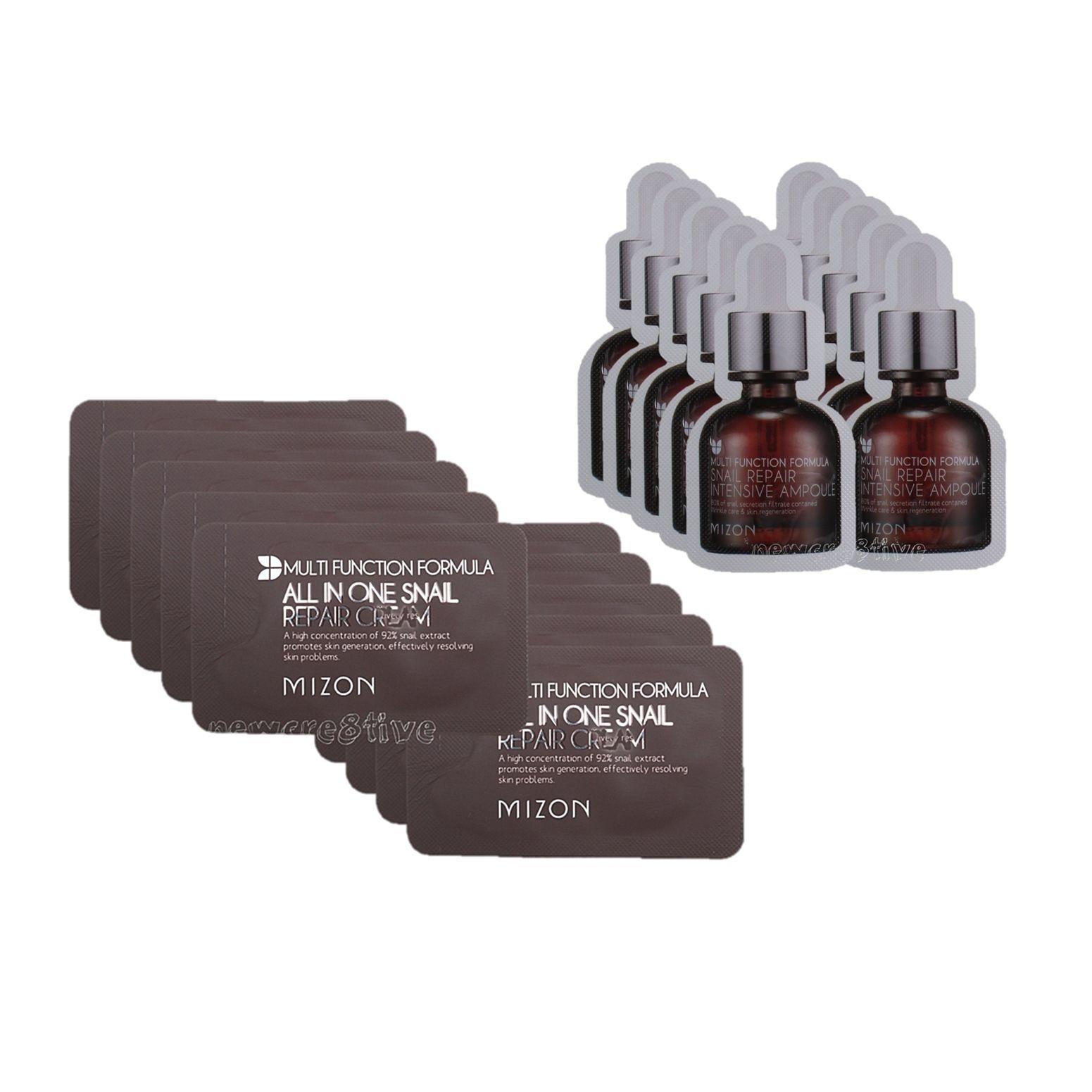 Mizon Snail Repair Cream Sample 10pcs Intensive Ampoule 30ml Transaction History