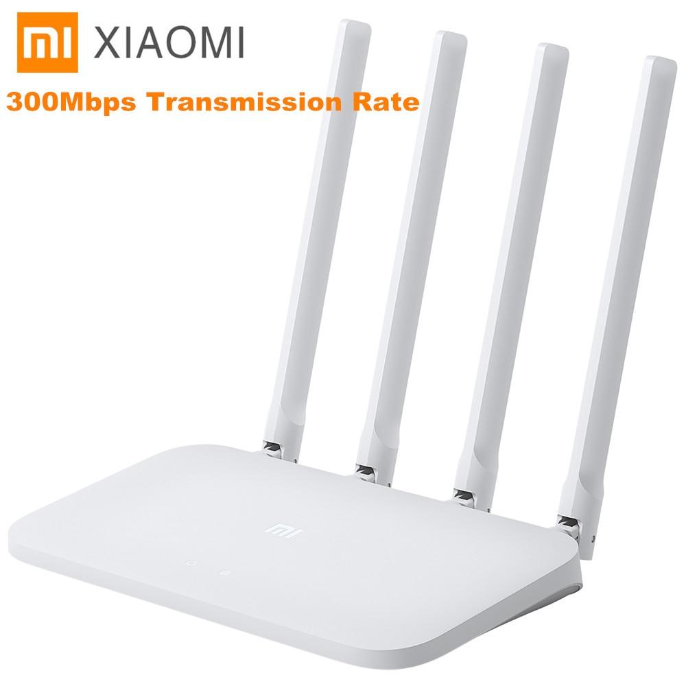 Оригинальный Xiao mi Wi-Fi роутер 4C 64 ram 802,11 B/G/N 2,4G 300 Мбит/с 4 антенны Смарт-приложение управление полоса беспроводные роутеры ретранслятор