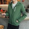 2017 Мода Весна Осень Мужские Куртки И Пальто Весте Homme Мужская Fit Пальто С Капюшоном Верхняя Одежда Мужской Жакет M-4XL 3230 #