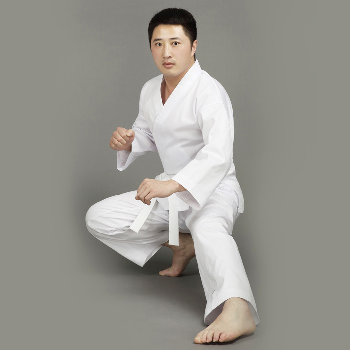Adults&Kids Male Female Cotton White Karate Uniform Suits WTF Approved Dobok Tae Kwon Do ...