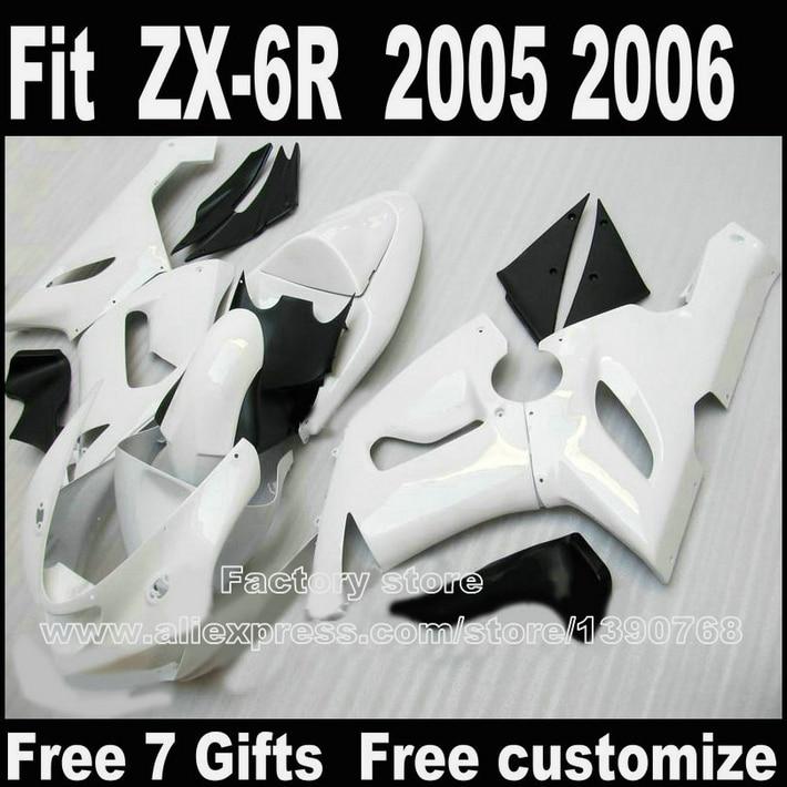 ₩Mejor Precio Cuerpo kit para Kawasaki ZX6R kits de carenado 2005 ...