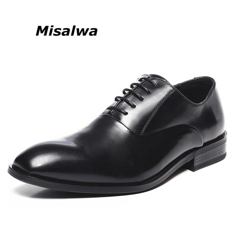 Misalwa Cap Toe Classic Retro Men s Dress Shoes Wedding Office Men Formal Suit Outfits Shoes