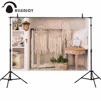 Allenjoy photocall backdrops white Indoor decorations Dreamcatcher wedding background for photo shoots photography photobooth image