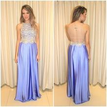 Langes Kleid Partei 2015 Kostenloser Versand Vestido Renda Longo Robe de Soiree Billig Lange Abendkleider