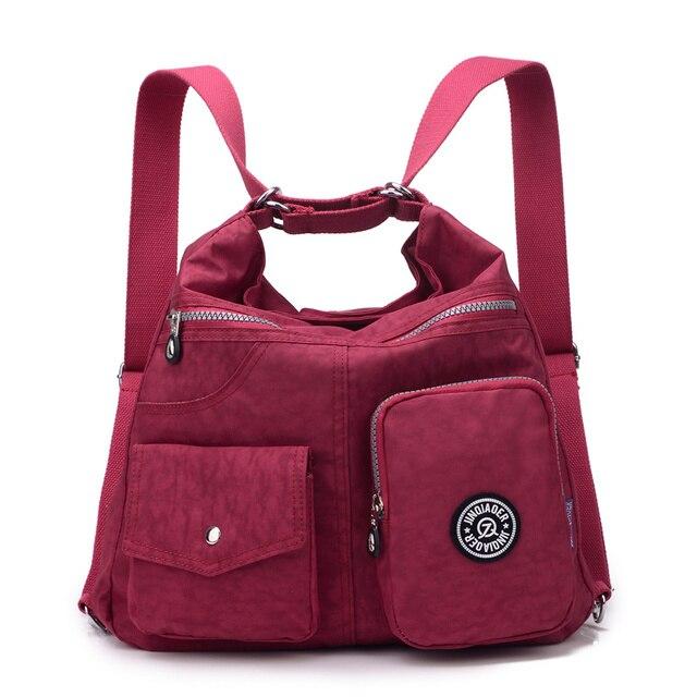 Novas Mulheres Saco de Nylon Bolsa Feminina Dupla Ombro Saco de Bolsas de Grife de Alta Qualidade bolsas sac a principal
