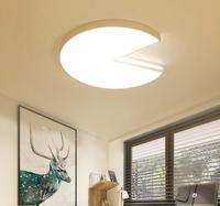 Um Luzes de Teto luz do quarto acolhedor e romântico simples e moderno led circular sala de estar lâmpada do quarto sala de estudo sala de jantar LU818361