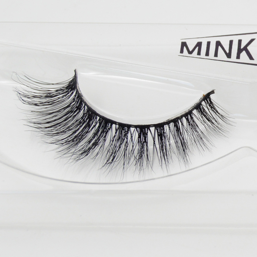 Visofree 3D Mink Eyelashes Upper Lashes 100% Real Mink Strip Eyelashes Handmade Crossing Mink Eye Lashes Extension A01