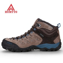 HUMTTO Men's Winter Outdoor Hiking Trekking Boots Shoes Sneakers For Men Leather Climing Mountain Boots Shoes Sneakers Man цены онлайн