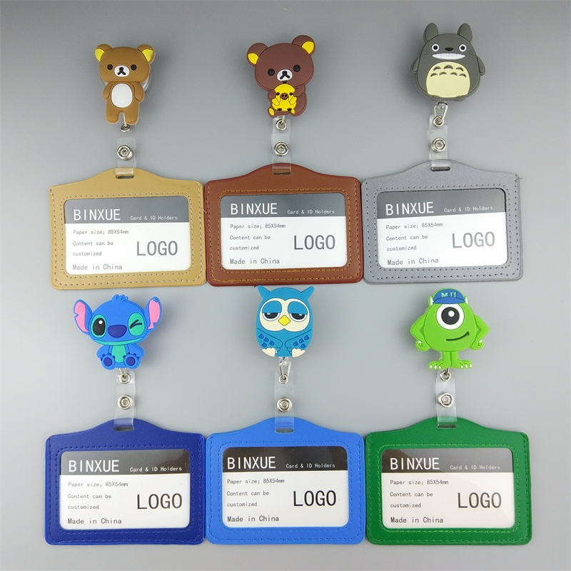 BINXUE Cover Card, Card Group, Retractable Buckle, Badge, Employee Display, Brand, Passerby, Gift, Group Card & ID Holders