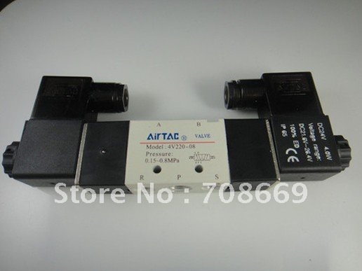 4V220-08 5Ports2Position Double Solenoid Pneumatic Air Valve 1/4 BSPT AC36V