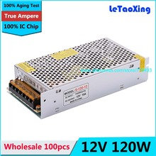 100pcs 12V 10A 120W 110V-220V Lighting Transformers high quality safe Led Driver for LED strip 5050 5730 power supply(China)