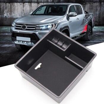 Para Toyota Hilux Revo 2015-2019 Interior caja de almacenamiento para apoyabrazos de coche guantera bandeja caja de almacenamiento organizador Auto Accesorios