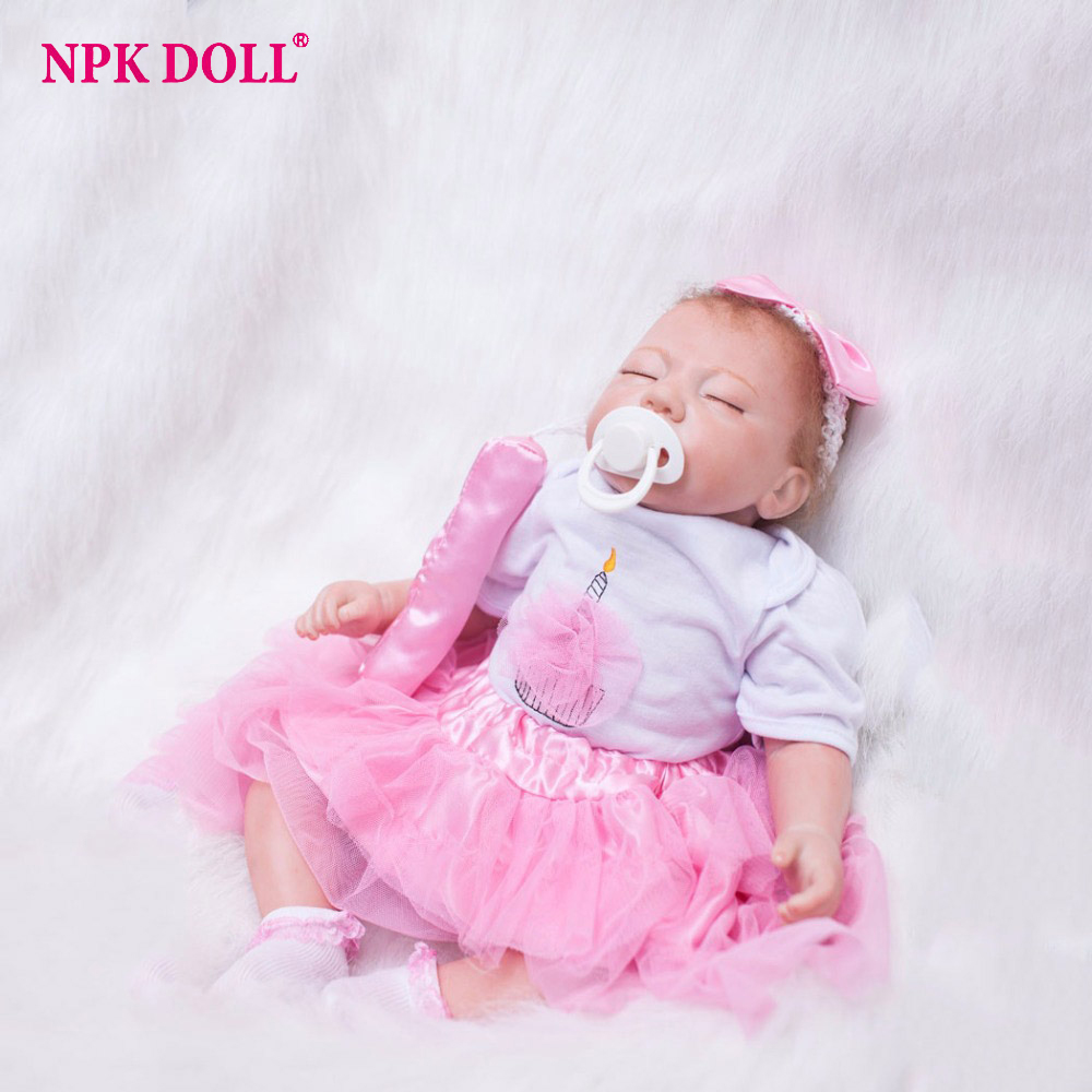 20 inches Handmade Doll Reborn Silicone Vinyl Realistic Newborn Baby Doll Toddler Girl Sleeping bebe Children Toys Brinquedos lifelike american 18 inches girl doll prices toy for children vinyl princess doll toys girl newest design