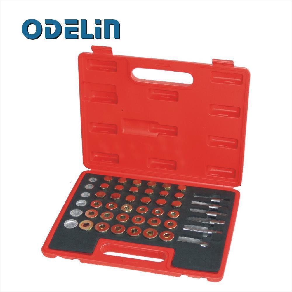 114pc Oil Pan Thread Repair Kit Sump Gearbox Drain Plug Tool Set M13 - M22 veconor 1 2 drive oil pan drain plug screw bolt star tamper proof socket tool m16 for vw audi