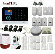 SmartYIBA RU FR ES SE Switchable Wireless Home Security WIFI GSM 3G GPRS Alarm system APP Remote Control DIY Kit