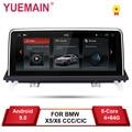 YUEMAIN Android 9.0 Lettore DVD Dell'automobile per BMW X5 E70/X6 E71 (2007-2013) CCC/CIC Unità di Sistema di Navigazione PC Auto Radio Multimedia IPS