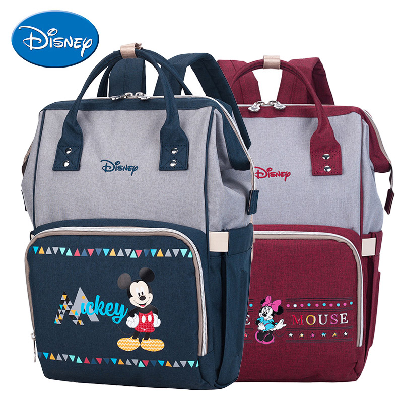 Disney Baby Bags For Mom Fashion Large Capacity Travel Maternity Backpack Portable Diaper Bags Original Disney Bag