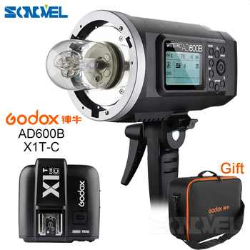 FREE DHL Godox 2.4G Wireless AD600B Bowen Mount TTL Flash Speedlite + X1T-C Trigger For Canon EOS +GIFT