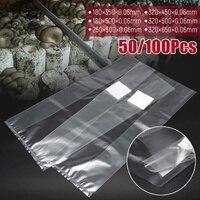6 Sizes PVC Mushroom Spawn Grow Bag Substrate High Temp Pre Sealable 50/100PCS Garden Supplies|Grow Bags| |  -