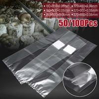 6 Sizes PVC Mushroom Spawn Grow Bag Substrate High Temp Pre Sealable 50/100PCS Garden Supplies