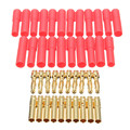 10 Sets HXT 4mm Bullet Banana Plugs with Red Housing for RC Connector Socket AM-1009C Gold Plated Banana Plug
