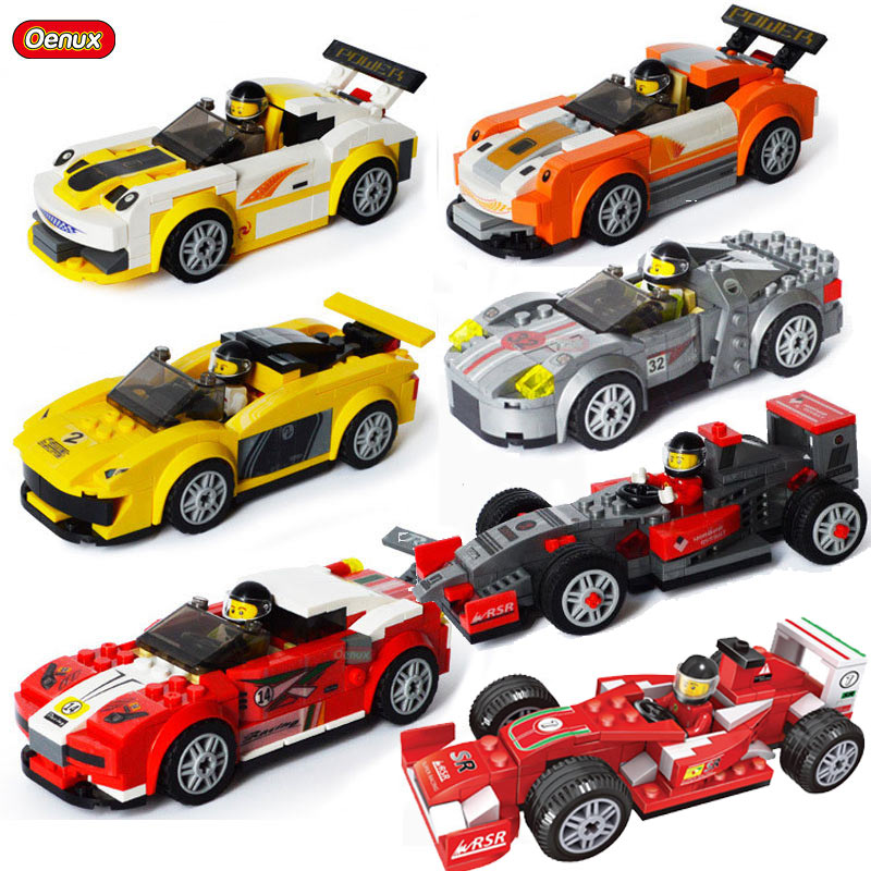 Oenux F1 Kart Formula Car Model Classic Technical Racing Car McLaren Building Block Racing Driver Figures Brick Toy For Boy Gift